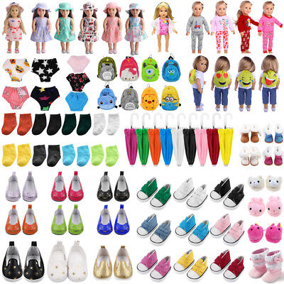 "Fashion Doll Clothes Dress Pajama Shoes Bag Accessory for 18""Inch American Girl"