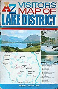 A. to Z. Visitors Map of the Lake District, Geographers A-Z Map Company, Used; A