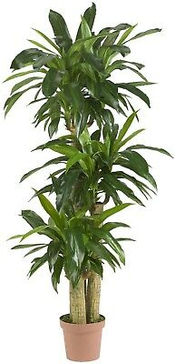 potted artificial dracaena silk plant realistic faux tree home