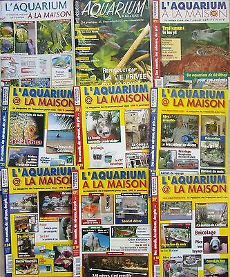 Lot De  9  Magazines  L'aquarium A La Maison