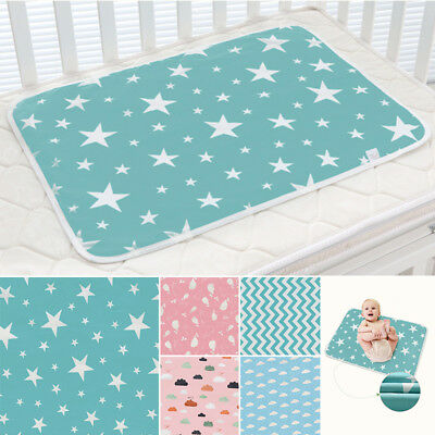 Waterproof Changing Diaper Pad Washable Baby Infant Large Urine Mat Nappy Cover
