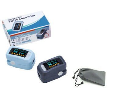 Fingertip Pulse Oximeter OLED Blood Oxygen Saturation Monitor  With Carrying Bag