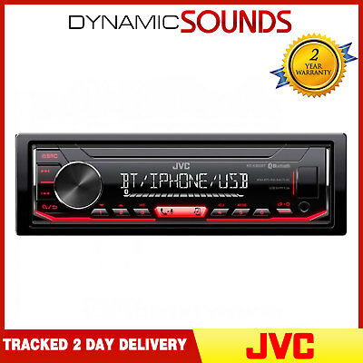 JVC KD-X352BT Mechless Aux USB MP3 Bluetooth iPod iPhone Android Car Stereo
