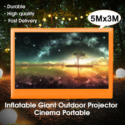 13*7.3Ft Inflatable Outdoor Movie Projection Screen Home Party Backyard Cinema