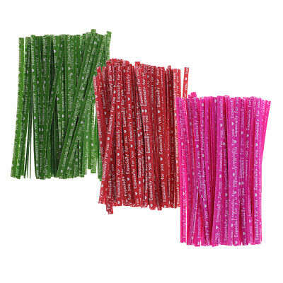 100x Kraft Paper Twist Ties for Wedding Party Sweets Candy Bags Package 8cm
