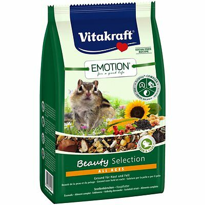 Vitakraft Emotion BEAUTY all ages , ARDILLAS -600g-Comida Comida Para Roedores