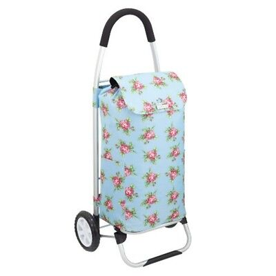 Kitchencraft Coolmovers Aluminium Folding Shopping Trolley, Ditsy Flower -
