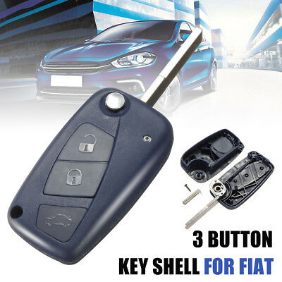 3 Button Remote Key Fob Shell Case For Fiat Panda Punto Bravo Grande Stilo Doblo