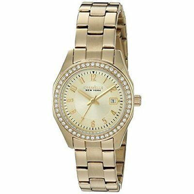 Bulova Women's Quartz and Stainless-Steel Casual Watch, Gold-Tone, 44M108