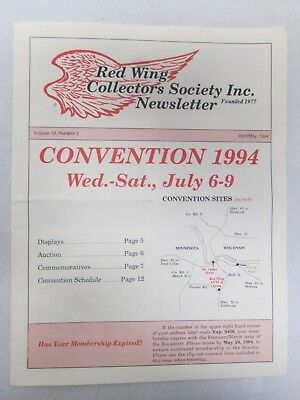 Red Wing Collectors Newsletter April May 1994 Gold Stoneware Found USA Pottery