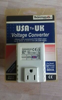 Vintage Tacima USA to UK Voltage Converter 1990s Small Appliances