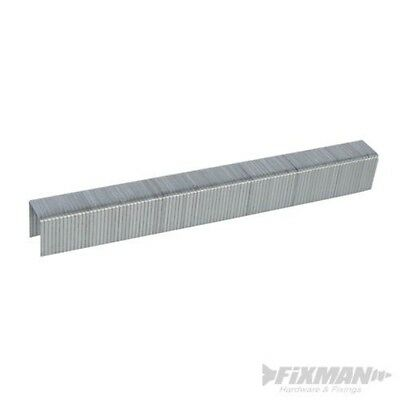 Fixman 455701 10j Galvanised Staples 11.2 x 14 x 1.16mm Pack Of 5000 - 5000pk
