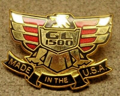 Honda Rider S Pin Gold Wing Gl 1500 Eagle Crest Made In The U.s.a. Flash Patch