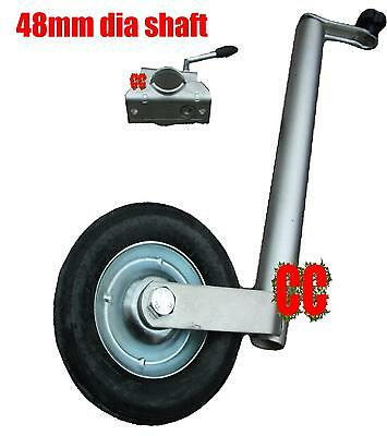 Heavy duty jockey wheel 48mm tube dia + clamp telescopic telecopic jocky trailer