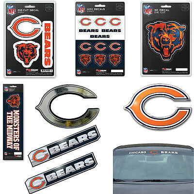 NFL Chicago Bears Premium Vinyl Decal / Sticker / Emblem - Pick Your Pack