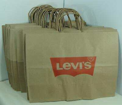 24 Brand New 21x7x18 LARGE FOSSIL Shopping Paper Gift Bags Store Collectibles