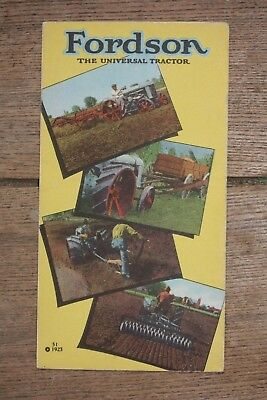 1923 Fordson The Universal Tractor Dealer's Pamphlet, Chester, New Jersey