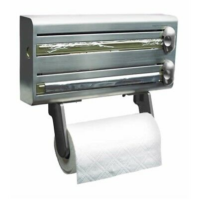 Master Class Stainless Steel Cling Film, Foil And Kitchen Towel Dispenser -