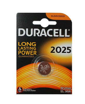 Pila Boton de Litio 3V Duracell CR 2025 Bateria Larga duraccion