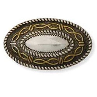 Silver & Gold Oval Angel Fire Concho - Screwback 15