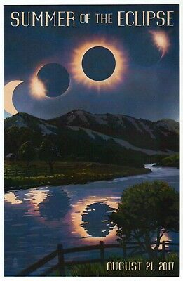Summer of the Eclipse, August 21, 2017, North America, Solar --- Modern Postcard