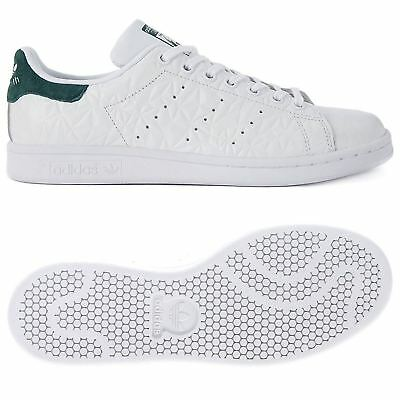 new product d675a 269b8 ADIDAS ORIGINALS STAN SMITH TRAINERS WHITE LEATHER JUNIOR UNISEX BOYS SHOES