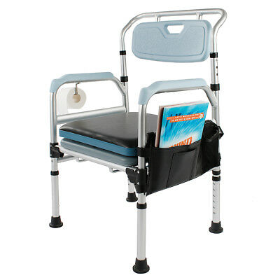 Commode Chair and Toilet Seat Medical Chair 3-in-1 Bathroom Chair with Cover