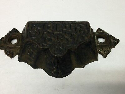Antique Vintage 1872 Cast Iron Victorian Bin Pull Part