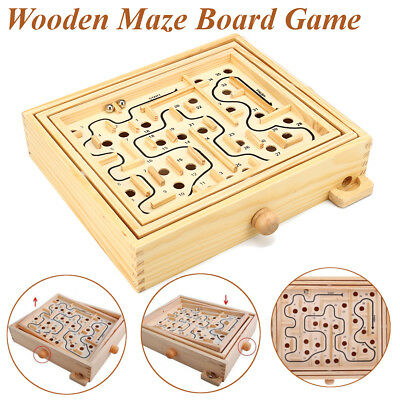 Wooden Balance Beads Game Toy Party Entertainment Maze Board Game Gift Boy Girl