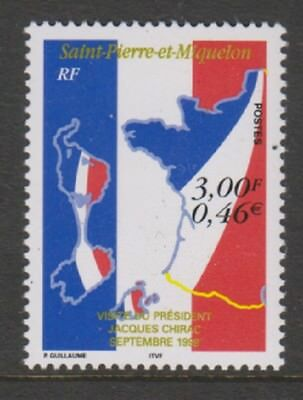 St Pierre & Miquelon - 1999, Visit of President Jacques stamp - MNH - SG 818
