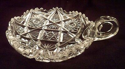 Very Exceptional American Brilliant Period Antique Cut Crystal Nappy