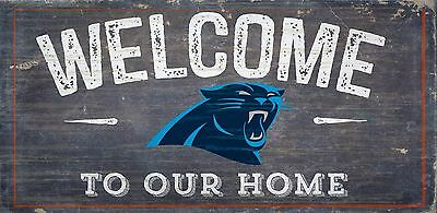 Home Sweet Home 6x12 Carolina Panthers Wood Sign Fan Creations