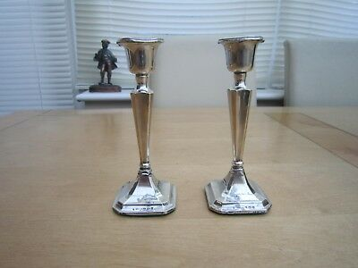 Solid Silver Candlesticks Fully Hallmarked
