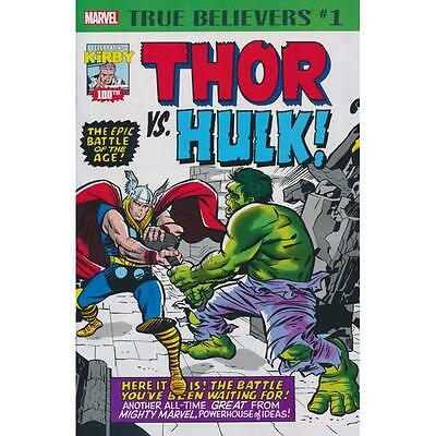 True Believers Kirby 100th Thor vs Hulk 1, Journey into Mystery 112, Avengers 3