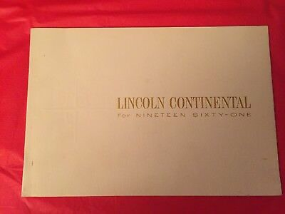 "1961 Lincoln ""Continental"" Car Dealer Sales Brochure (Smaller Version)"