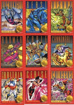1993 X-Men Series 2  Impel Marvel Complete Card Set #1-100