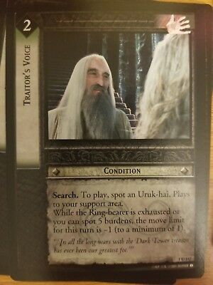 Lord of the Rings TCG Fellowship 1U142 Traitor's Voice CCG LOTR