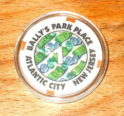 $1. BALLY'S PARK PLACE Casino Chip - Atlantic City, New Jersey - 1979