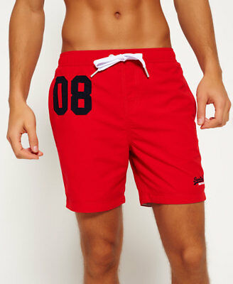 New Mens Superdry Premium Water Polo Shorts Hyper Red
