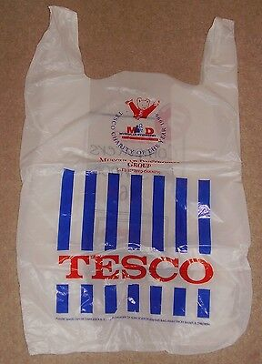 Rupert Bear Plastic Carrier Bag Tesco 1996 Muscular Dystrophy New And Unused
