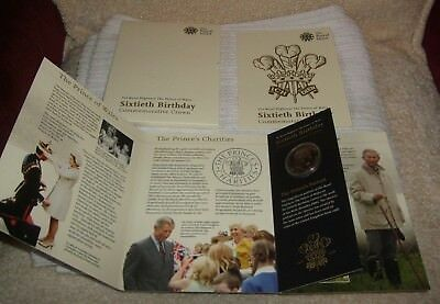 His Royal Highness Prince Of Wales ** Sixtieth Birthday Commemorative Crown **