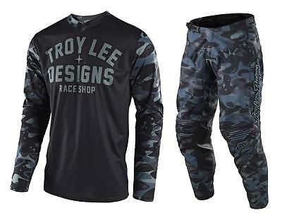 New 2018 Troy Lee Designs Gp Cosmic Camo Moto Gear Combo Black/gray All Sizes