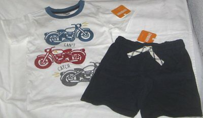 NWT Boys 3T GYMBOREE 2 Pc Outfit Shorts and Short Sleeve Top NEW