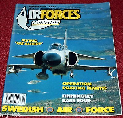 Air Forces Monthly Magazine 1989 October Swedish Air Force,Viggen,Sea King,A-6
