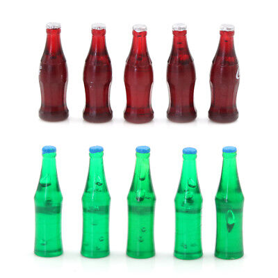 1:12 5PCS Miniature Bottles Dollhouse Drink Toy Accessory Collection UK