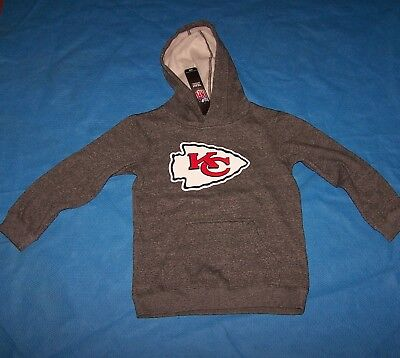 Size L (7)  Boys Youth Kansas City Chiefs  Hooded Sweatshirt NFL Team Apparel