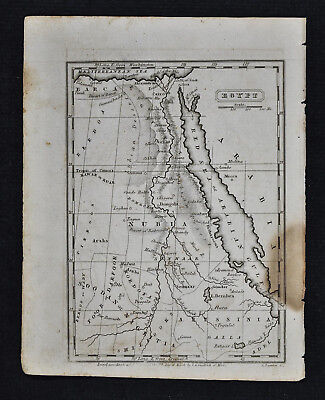 1839 Boynton Map - Egypt - Nubia Cairo Alexandria Red Sea - Middle East Africa
