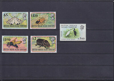 061318 Vögel Birds ... British Indian Ocean Territory 86-89 + 42 ** MNH 1976+71
