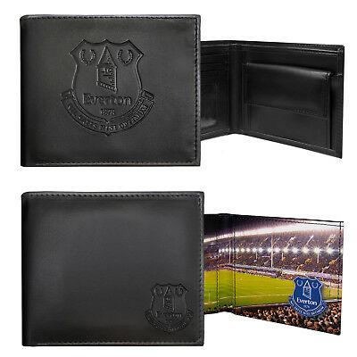 Everton FC Official Football Gift Embossed Crest Wallet Black