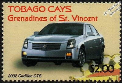 2002 CADILLAC CTS Executive Mint Automobile Car Stamp (2003 Tobago Cays)
